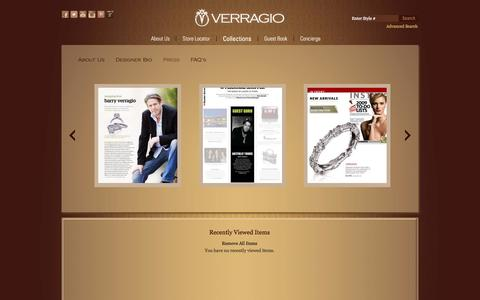 Screenshot of Press Page verragio.com - VERRAGIO - Press - captured Sept. 19, 2014