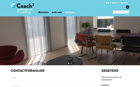 Screenshot of Contact Page coachkwadraat.nl - Contact - Coachkwadraat - captured July 19, 2018