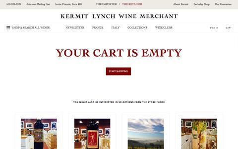 Kermit Lynch Wine Merchant - Your Cart