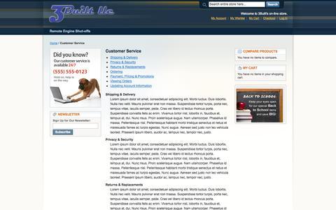 Screenshot of Support Page 3built.com - Customer Service - captured Oct. 2, 2014