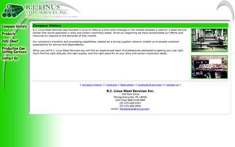 Screenshot of Home Page rjlinus.com - RJLinus_steel - captured Oct. 7, 2014