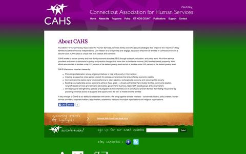 Screenshot of About Page cahs.org - About CAHS | CAHS - captured Oct. 3, 2014