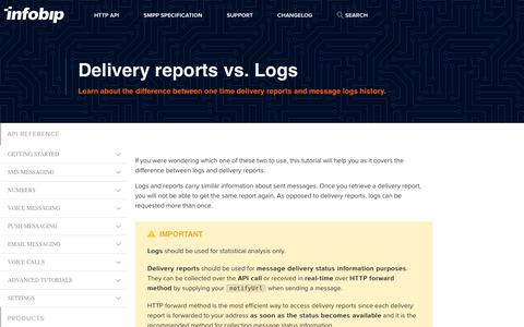 Delivery reports vs. Logs