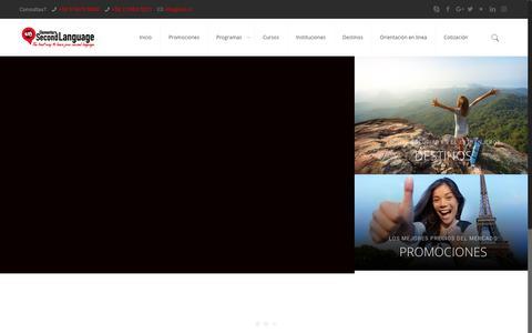 Screenshot of Home Page escuelasdeingles.cl - ESL Chile, Cursos de idioma, estudiar y trabajar en el extranjero - captured July 28, 2017
