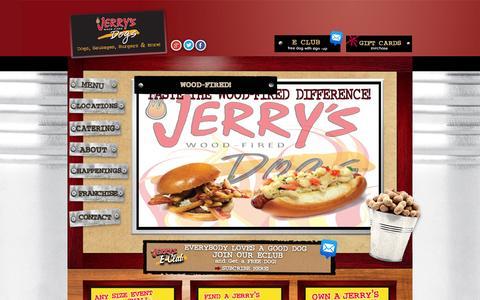 Screenshot of Home Page jerrysdogs.com - Homepage - Jerrys Dogs- Official Website : Jerrys Dogs- Official Website - captured Oct. 6, 2014