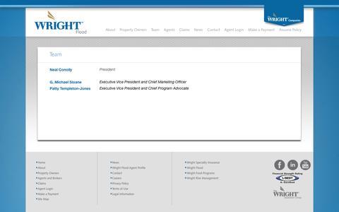 Screenshot of Team Page wrightflood.com - Wright Flood - Team - captured Aug. 14, 2016