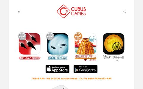 Screenshot of Home Page cubusgames.com - CUBUS GAMES - GAMEBOOK CRAFTERS - captured Dec. 12, 2015