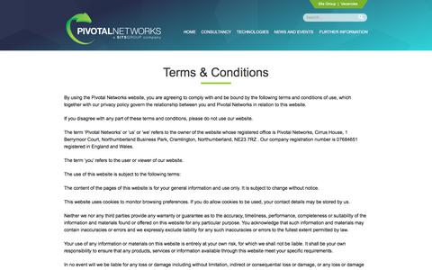 Screenshot of Terms Page pivotalnetworks.co.uk - Terms & Conditions | Pivotal Networks - captured Aug. 4, 2017