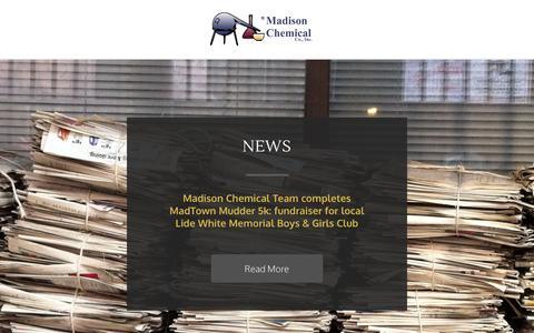 Screenshot of Press Page madchem.com - News - Madison Chemical Co., Inc. - captured Nov. 2, 2014