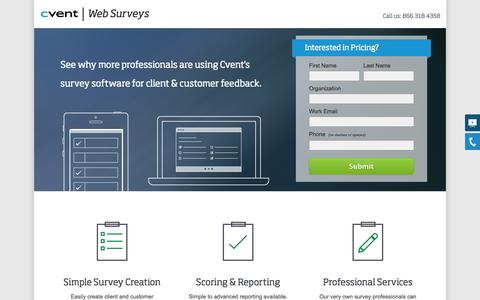 Screenshot of Landing Page cvent.com - Client and Customer Feedback | Cvent - captured Oct. 27, 2014