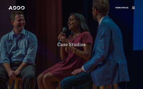 Screenshot of Case Studies Page addo.is - Case Studies - ADDO Worldwide - captured Oct. 2, 2018