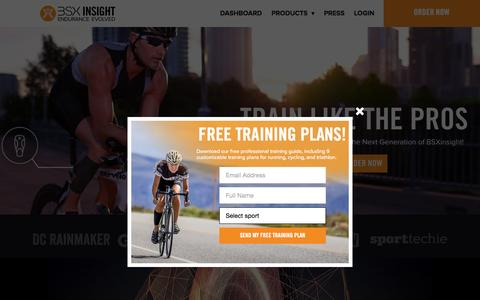 Screenshot of Home Page bsxinsight.com - Endurance Athlete Lactate Threshold & Muscle Oxygen Test - captured Sept. 19, 2015