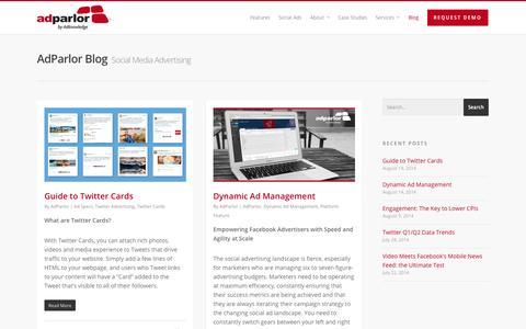 Screenshot of Blog adparlor.com - Blog |  AdParlor - captured Sept. 23, 2014