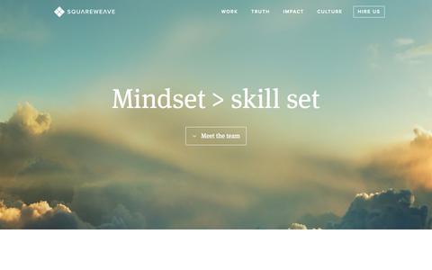 Screenshot of Team Page squareweave.com.au - Squareweave - Digital Impact for Change Makers - captured Sept. 30, 2014