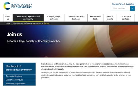 Screenshot of Signup Page rsc.org - Join the Royal Society of Chemistry - captured Aug. 15, 2019