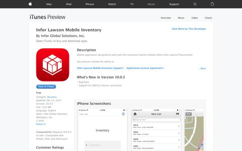 Infor Lawson Mobile Inventory on the App Store