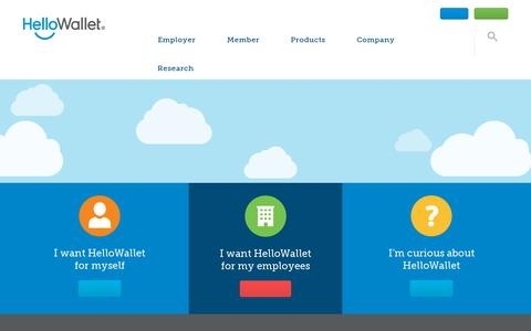 Screenshot of Home Page hellowallet.com - HelloWallet - Independent financial guidance for your employees - captured July 11, 2014