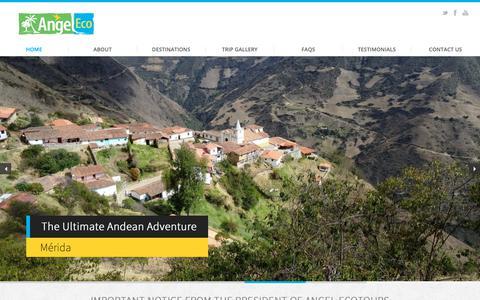 Screenshot of Home Page angel-ecotours.com - Home | Angel-Eco Tours - captured Oct. 31, 2018