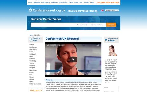Screenshot of About Page conferences-uk.org.uk - About Us | Conferences UK Team | Conference Venues in London - captured May 20, 2017