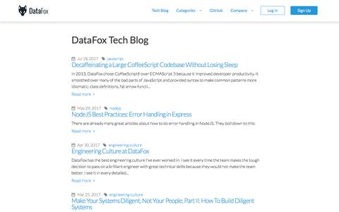 DataFox Tech Blog