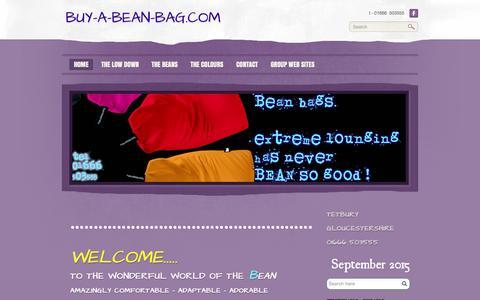 Screenshot of Home Page buy-a-bean-bag.com - buy-a-bean-bag.com - Bean bags - captured Sept. 1, 2015