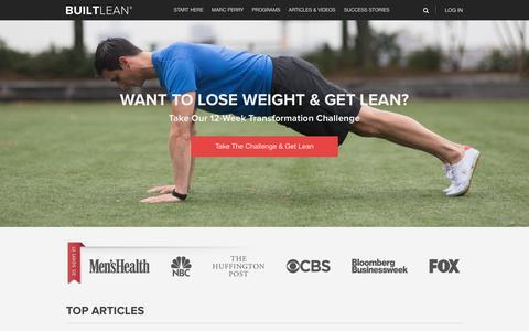 Screenshot of Home Page builtlean.com - BuiltLean® - Lose Weight & Get Lean - BuiltLean - captured Sept. 21, 2018