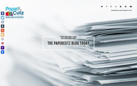 Screenshot of Blog papercutz.co.uk - Papercutz Blog   Welcome to Paper Cutz Blog - Inspiration and Guides - captured Oct. 20, 2016
