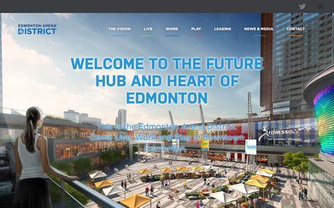 Screenshot of Developers Page revitalizedowntown.ca - Edmonton Arena District - EAD - captured Oct. 27, 2014