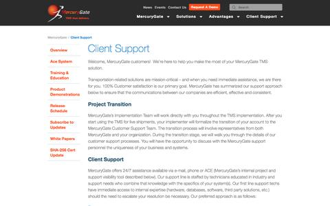 Client Support  |  MercuryGate