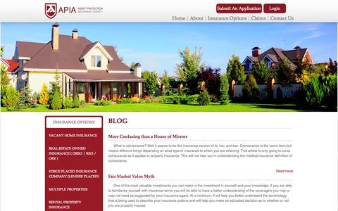 Screenshot of Blog apiaprotects.com - Insurance For Investors | APIA Inc. - captured Nov. 2, 2014