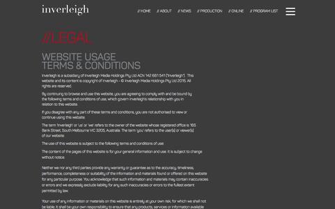 Screenshot of Terms Page inverleigh.com - Inverleigh // Legal - captured Feb. 8, 2016