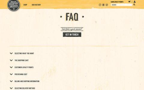 Screenshot of FAQ Page tcsjerky.com - FAQ'S | Tillamook Country Smoker - captured Oct. 24, 2017