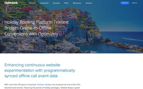Holiday Booking Platform Teletext Bridges Online-to-Offline Conversions with Optimizely