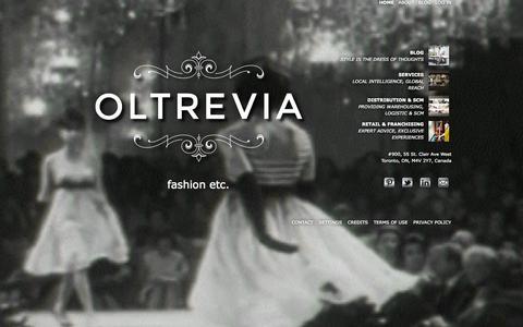 Screenshot of Home Page oltrevia.com - OLTREVIA | fashion etc. | OLTREVIA - captured Oct. 3, 2014