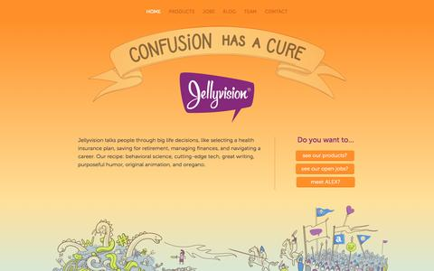 Screenshot of Home Page jellyvision.com - Interactive Employee Communication Software - Jellyvision - captured April 1, 2017
