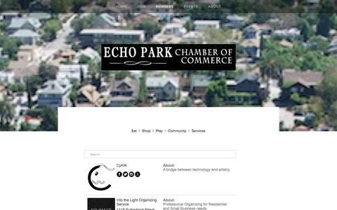 Screenshot of Services Page epcc.la - Services — Echo Park Chamber of Commerce - captured Jan. 25, 2016