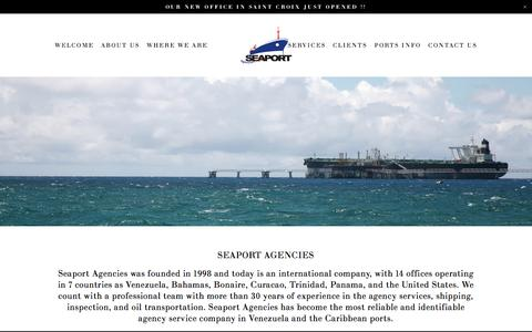 Screenshot of About Page seaportagencies.com - SEAPORT AGENCIES — Seaport Agencies - captured Nov. 17, 2016