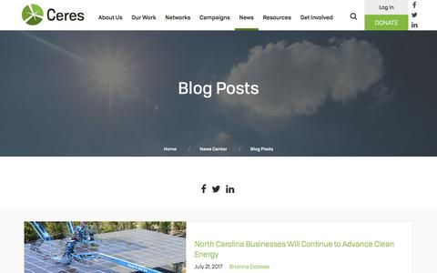 Screenshot of Blog ceres.org - Blog Posts | Ceres - captured July 23, 2017