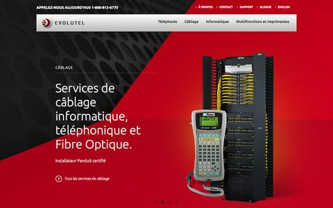 Screenshot of Home Page techno-logic.ca - Réparation ordinateur et photocopieur - Cartouche d'encre - captured Oct. 7, 2014