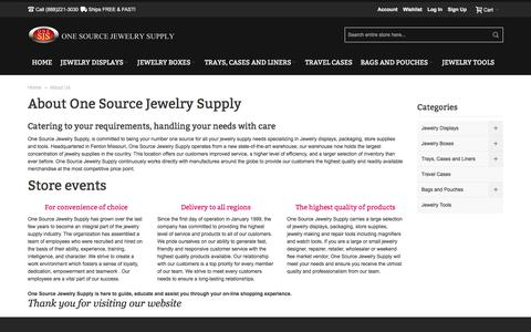 Screenshot of About Page onesourcejewelrysupply.com - About Us - captured Nov. 13, 2017