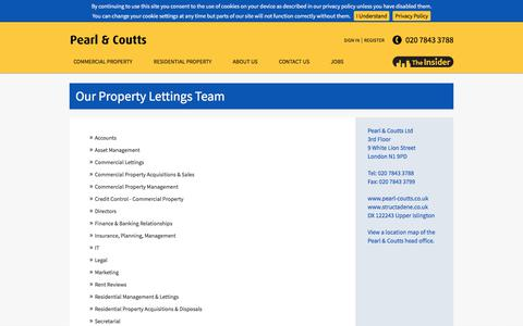 Screenshot of Team Page pearl-coutts.co.uk - Our Property Team   Pearl & Coutts Property Team   London - captured July 18, 2017