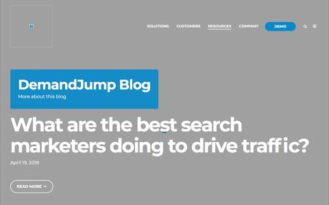 Screenshot of Blog demandjump.com - DemandJump Blog - captured May 23, 2018