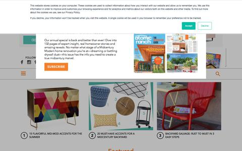Screenshot of Home Page atomic-ranch.com - Atomic Ranch — The Trusted Resource for Mid Mod Design - captured July 3, 2018