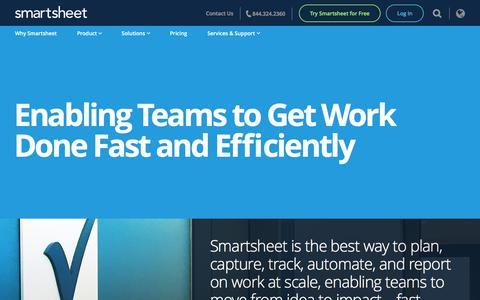 Screenshot of About Page smartsheet.com - About us | Smartsheet - captured June 5, 2018