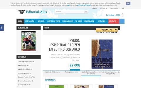 Screenshot of Home Page editorial-alas.com - Editorial Alas. Libros de artes marciales - captured Oct. 22, 2018