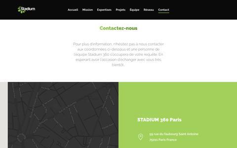 Screenshot of Contact Page stadium-360.com - Contact – Stadium 360 - captured Sept. 30, 2018