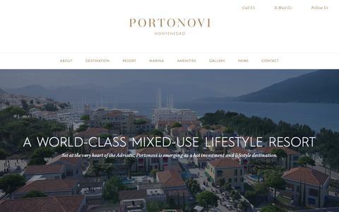 Screenshot of About Page portonovi.com - About - captured Nov. 5, 2018