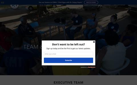 Screenshot of Team Page trekmedics.org - Our Team – Trek Medics - captured Feb. 24, 2016