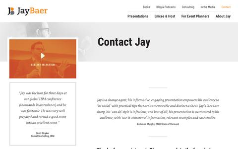 Contact Jay - Jay Baer Marketing and Customer Service Keynote Speaker -