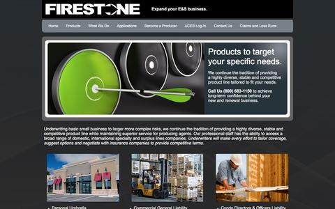 Screenshot of Products Page firestoneagency.com - Firestone Agency of Florida Inc, Firestone Agency of Florida Inc Coral Springs, FL Products - captured Nov. 25, 2016